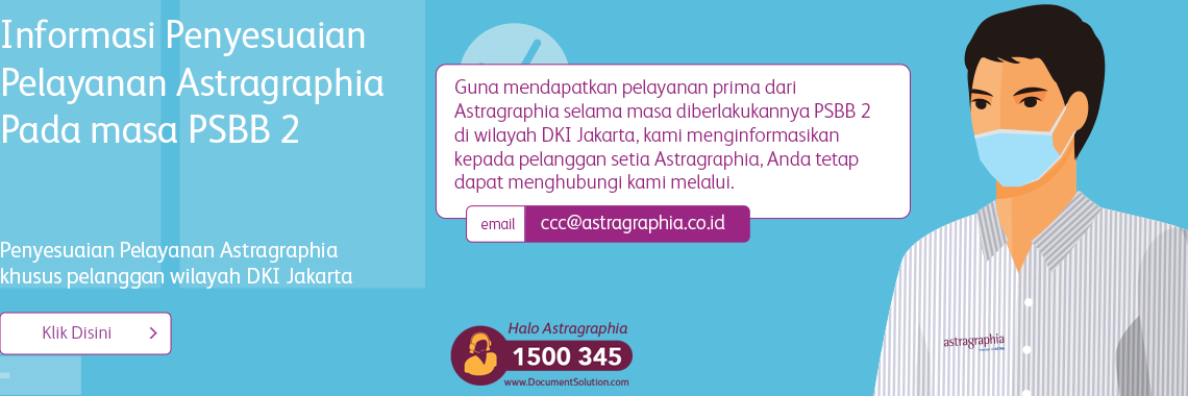 Adjustment of Astragraphia Services specifically for customers in the DKI Jakarta area